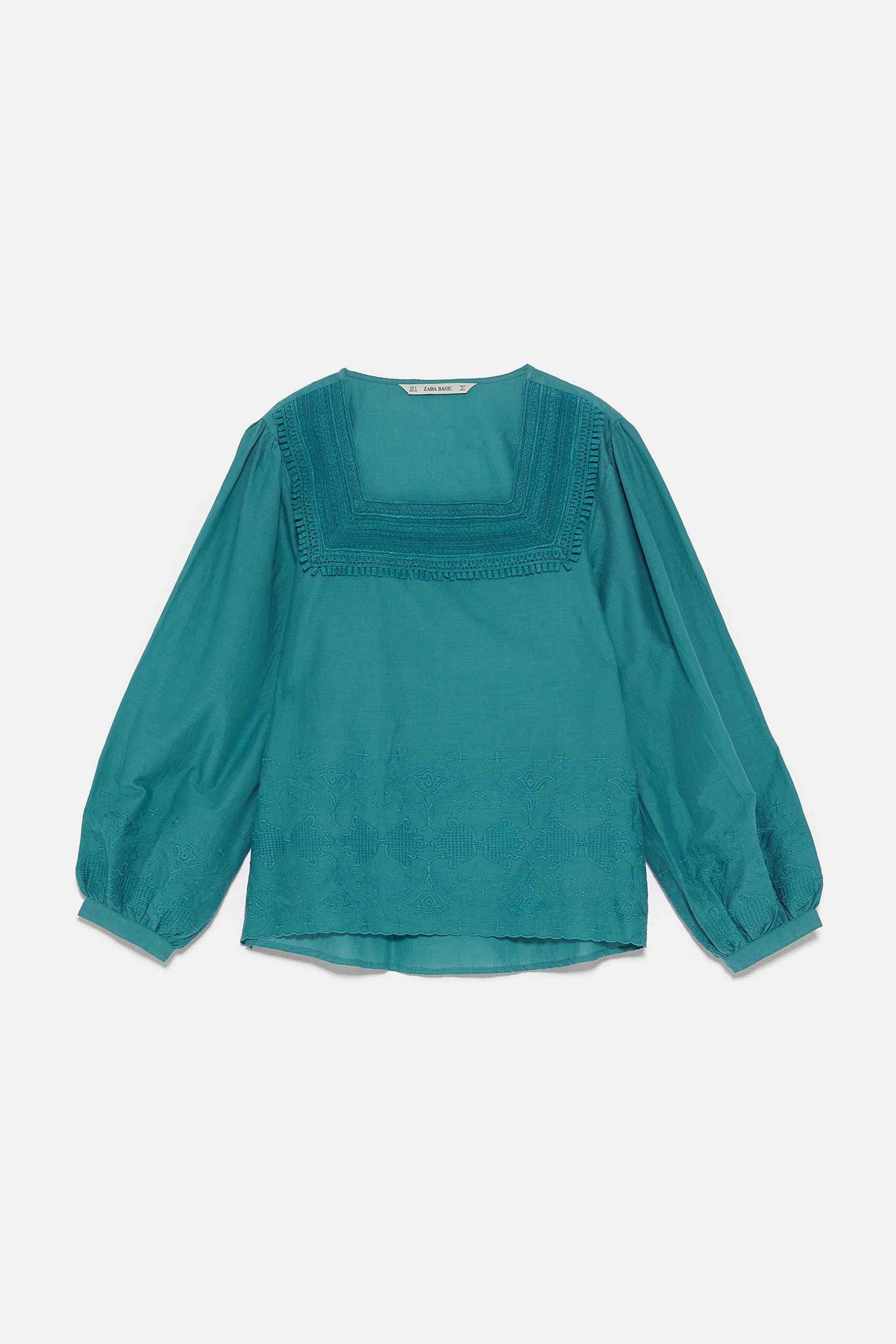 EMBROIDERED TOP - View All-SHIRTS | BLOUSES-WOMAN | ZARA United States