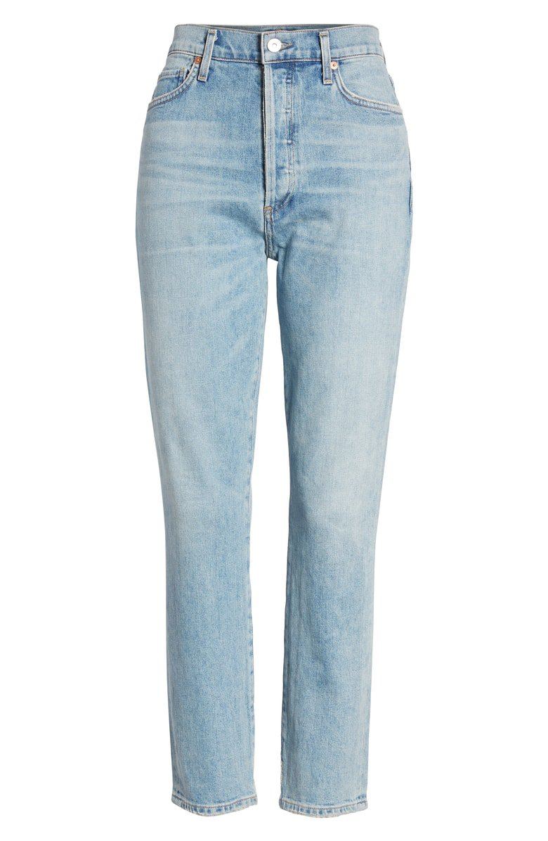 Citizens of Humanity Olivia High Waist Crop Slim Jeans (Renew) | Nordstrom