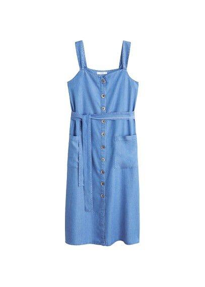MANGO Denim style soft dress
