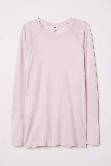 Long-sleeved Sports Top - Pink