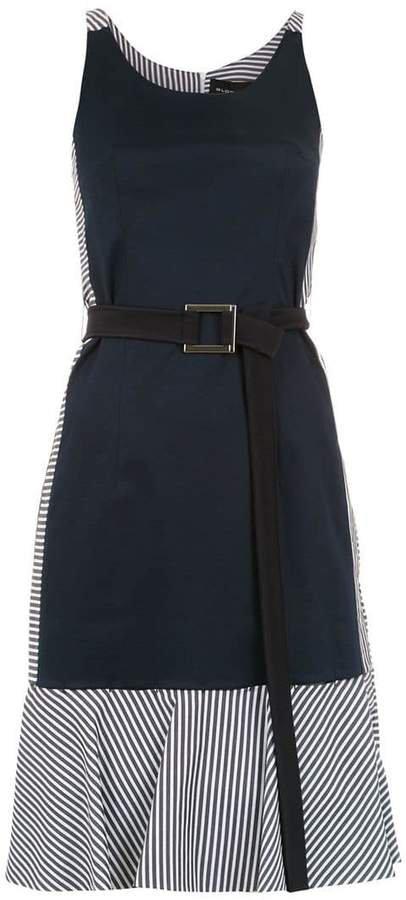 Gloria Coelho belted panelled dress