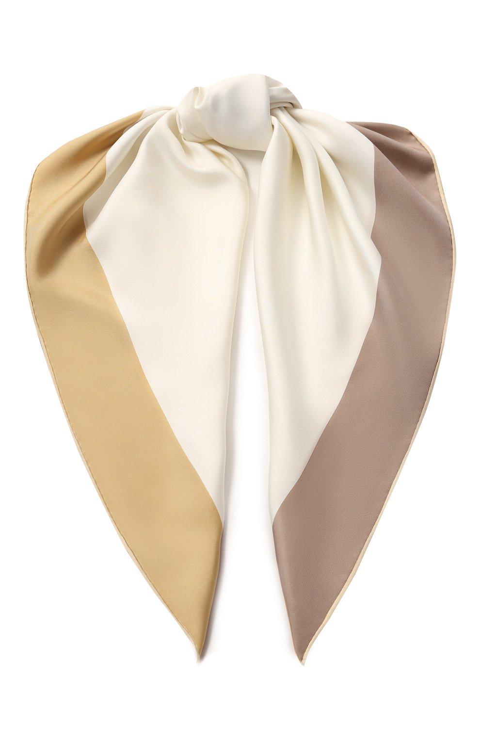 Женский кремовый шелковый платок LORO PIANA — купить за 33100 руб. в интернет-магазине ЦУМ, арт. FAI7059
