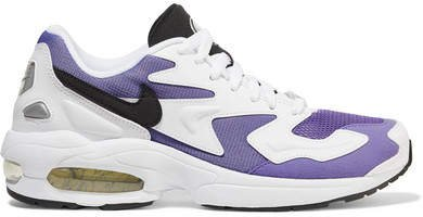 Air Max2 Light Mesh, Faux Leather And Suede Sneakers - Lavender