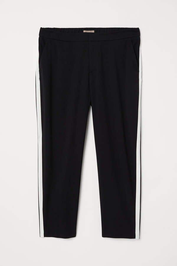 H&M+ Pants with Side Stripes - Black