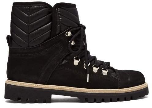 Edna Shearling Lined Suede Boots - Womens - Black