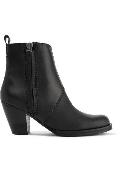 Acne Studios | The Pistol leather ankle boots | NET-A-PORTER.COM