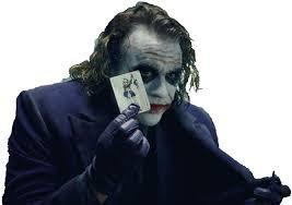 joker dark night png holding card - Google Search