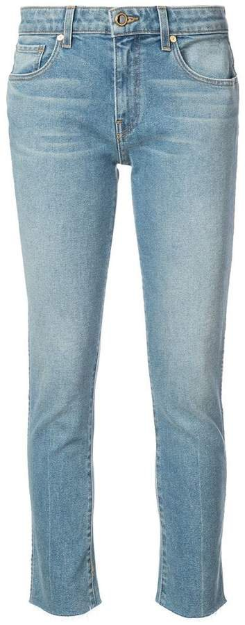 Khaite straight-leg cropped jeans
