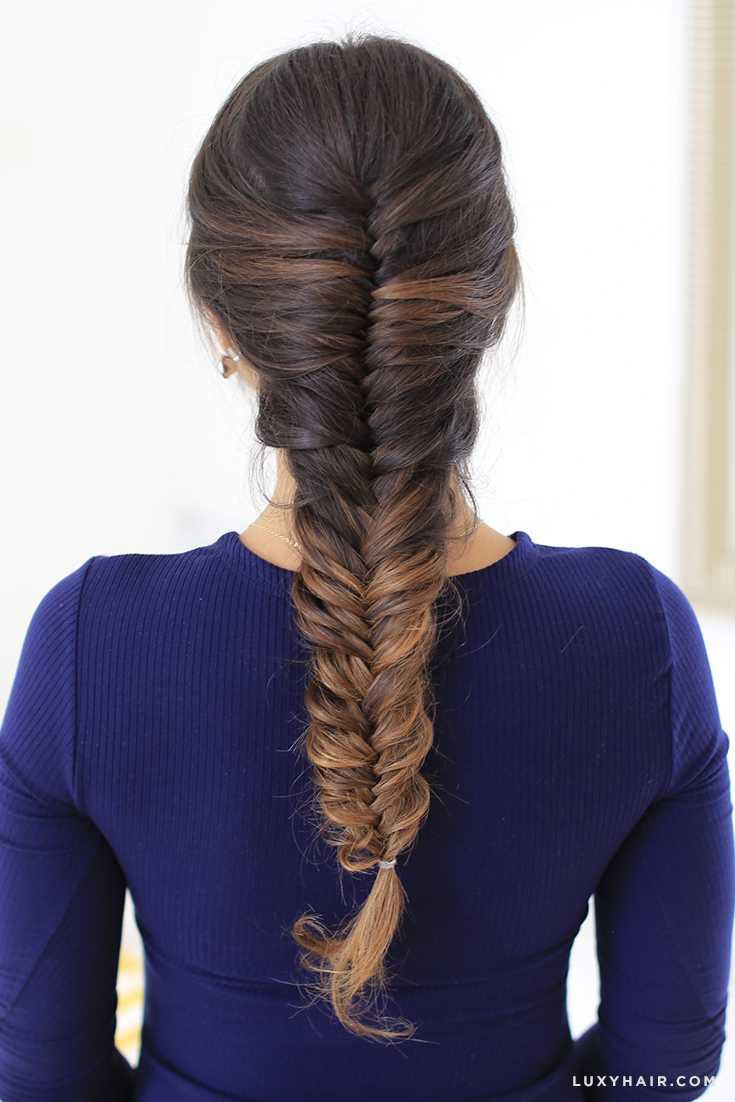 Fishtail braid with short hair - Hairstyles Ideas