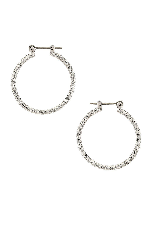 The Mini Triple Pave Hoop Earrings