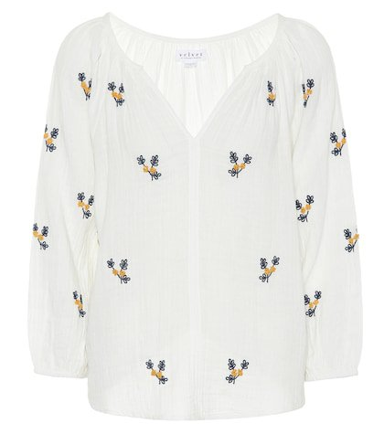 Selma embroidered cotton top