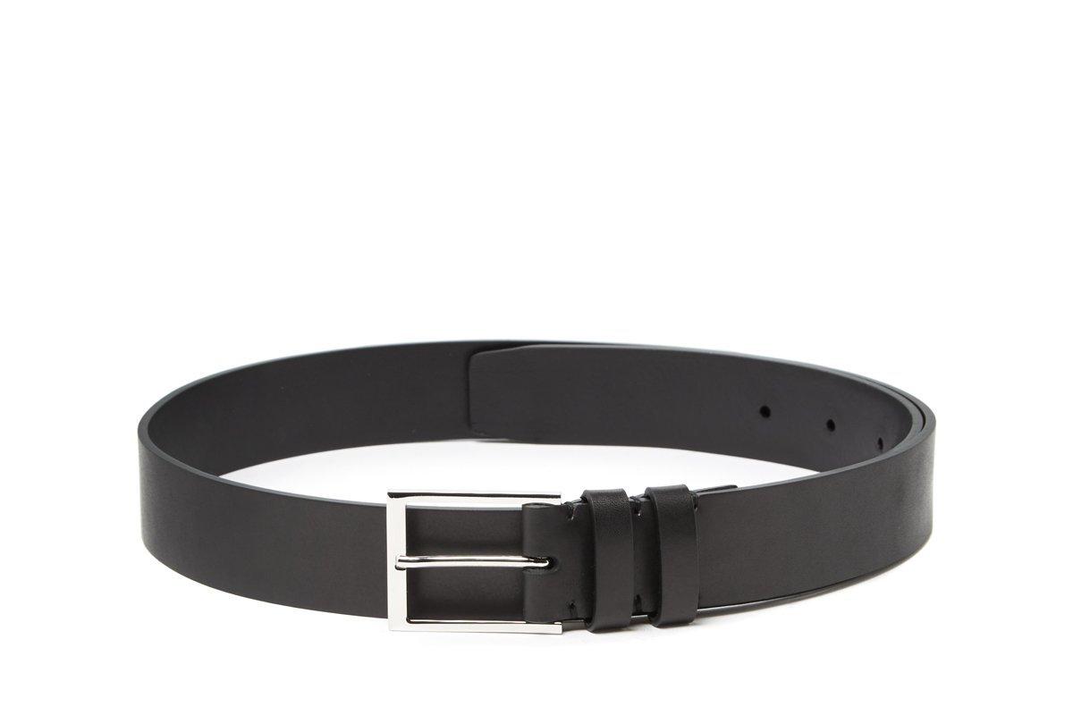 Dress Belt Satin Calf Black | Handmade Mens Leather Belt | Harrys of London | Harrys of London