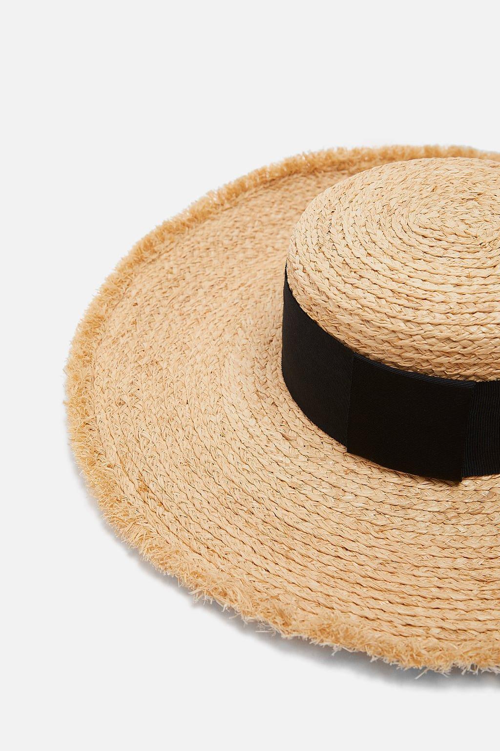 SOMBRERO RAFIA CINTA - Sombreros | Turbantes-ACCESORIOS-MUJER | ZARA España
