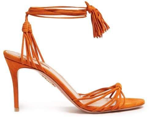 Mescal 85 Wrap Around Suede Sandals - Womens - Orange