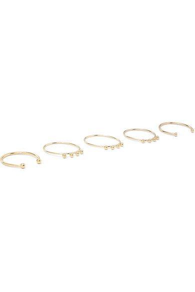Isabel Marant   Set of five gold-tone rings   NET-A-PORTER.COM