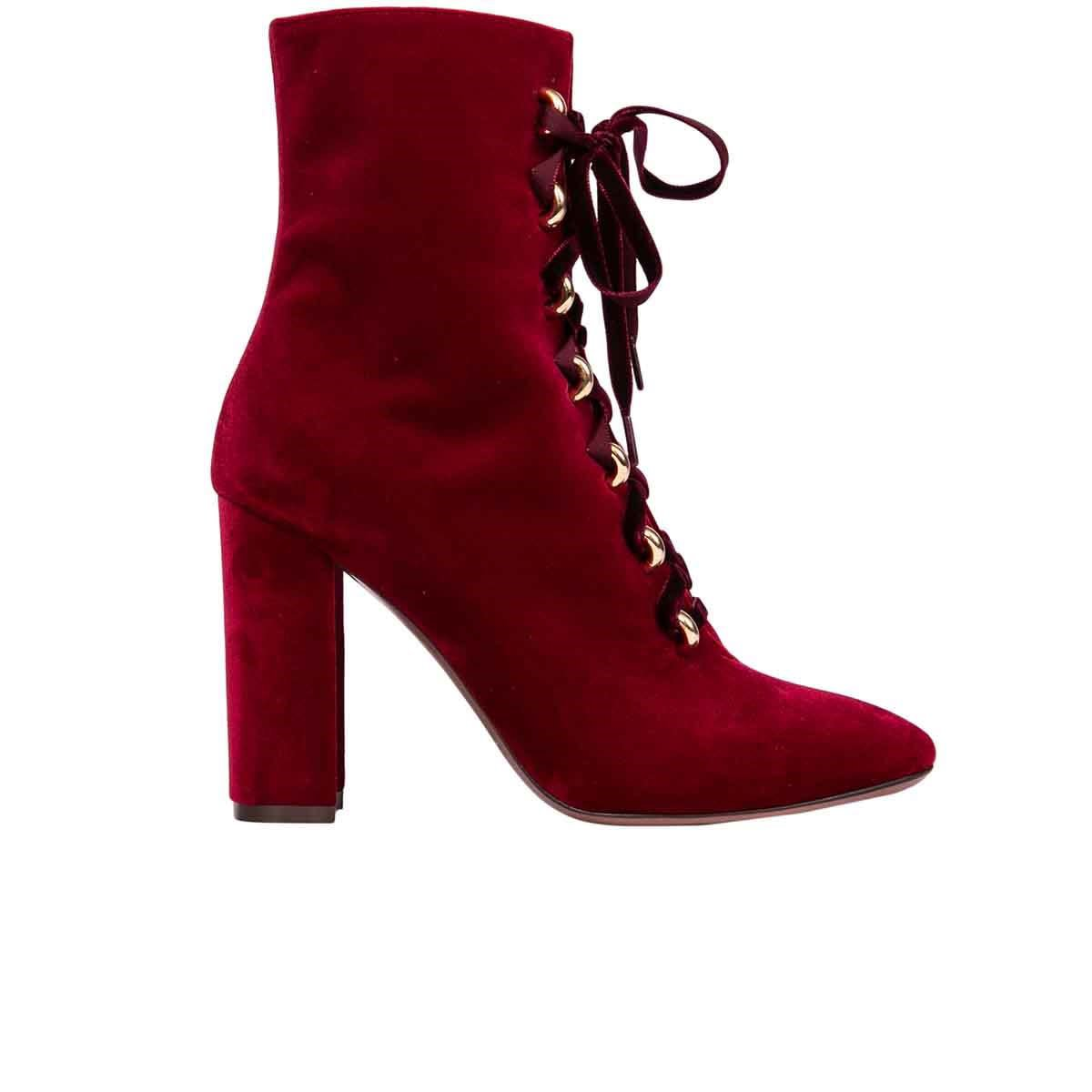 LAutre Chose Velvet Ankle Boots