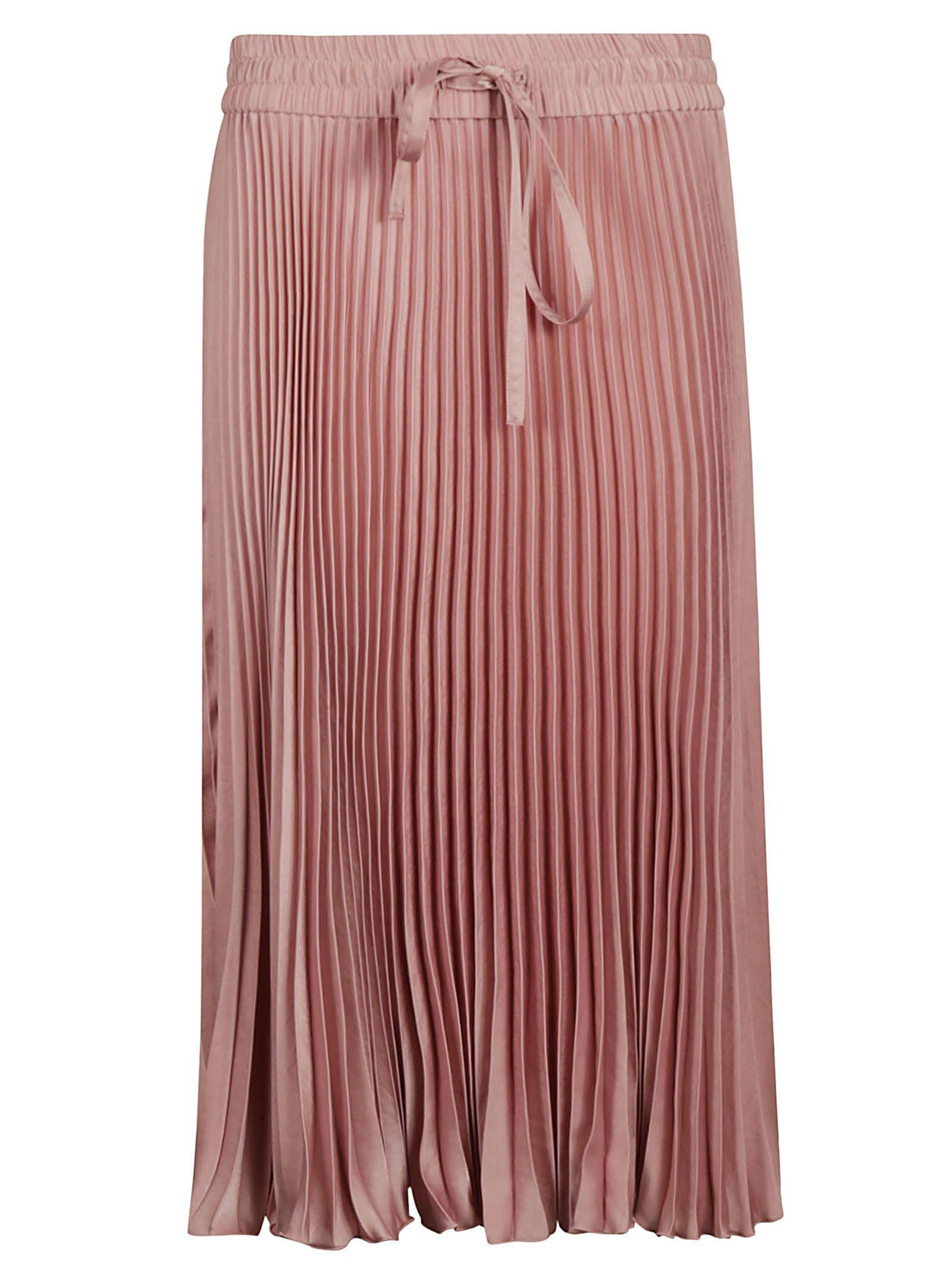 Red Valentino Sunray Pleated Skirt