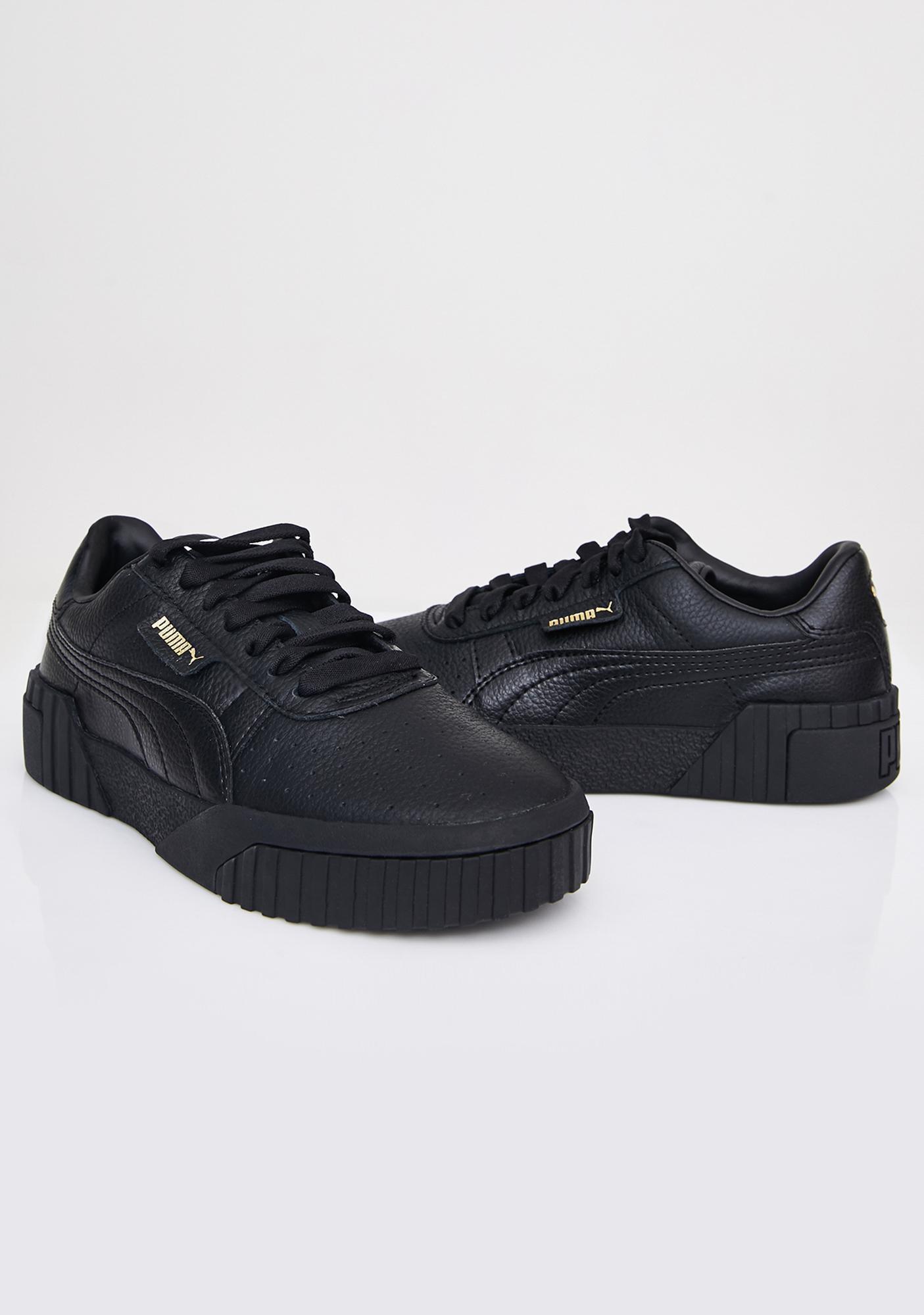 PUMA Black Cali Sneakers   Dolls Kill
