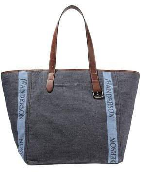 Leather-trimmed Printed Canvas Tote