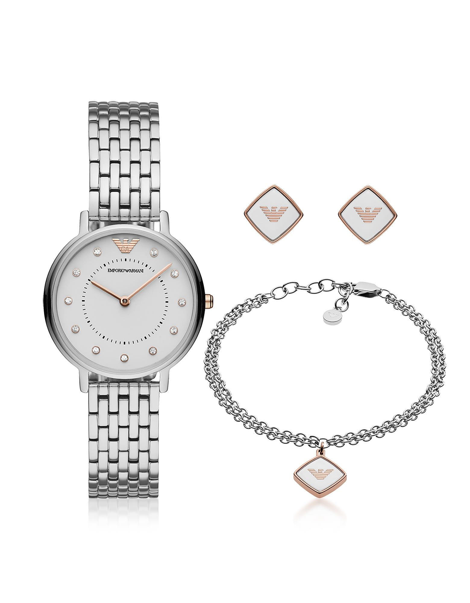 Emporio Armani Kappa Stainless Steel Watch Set