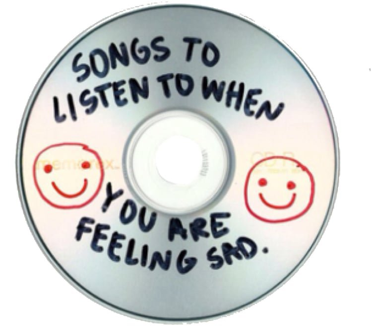 """""""songs to listen to when you're feeling sad"""" cd"""
