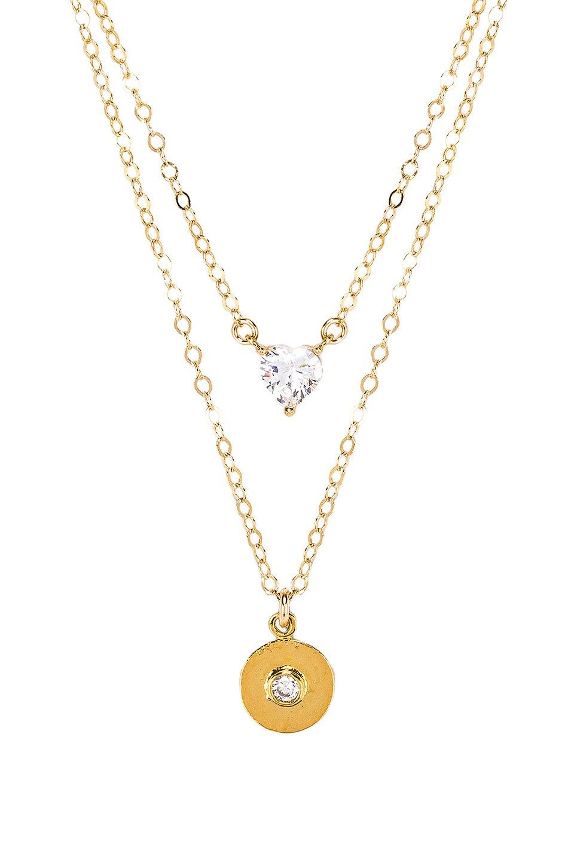 X REVOLVE Double Mon Coeur Romeo Coin Necklace