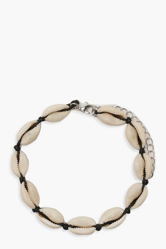 Natural Shell Anklet | Boohoo White