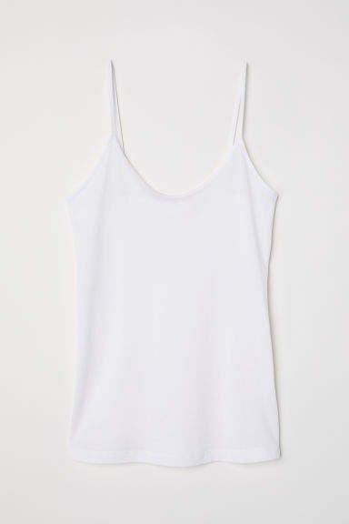 Silk-blend Camisole Top - White