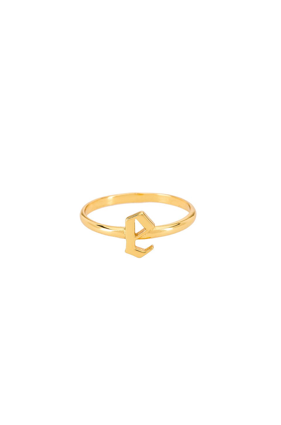 The Gothic Letter E Ring