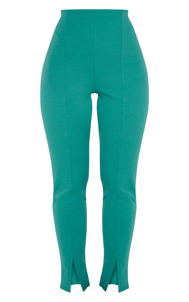 Jasper Green Split Front Pants | PrettyLittleThing USA