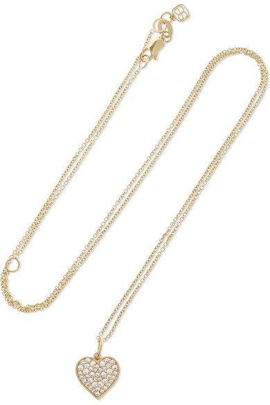 Sydney Evan | Mini Heart 14-karat gold diamond necklace | NET-A-PORTER.COM