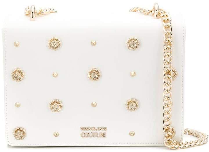 crystal-embellished box tote