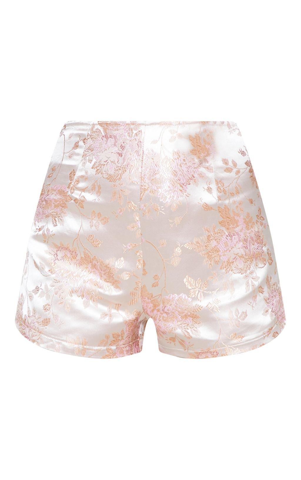 Blush Oriental Embroidered High Short | PrettyLittleThing USA
