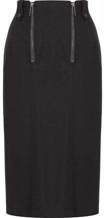 Zip-detailed Wool-cady Pencil Skirt