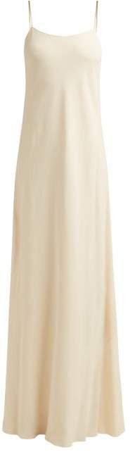 Ebbins Bias Cut Crepe Dress - Womens - Ivory