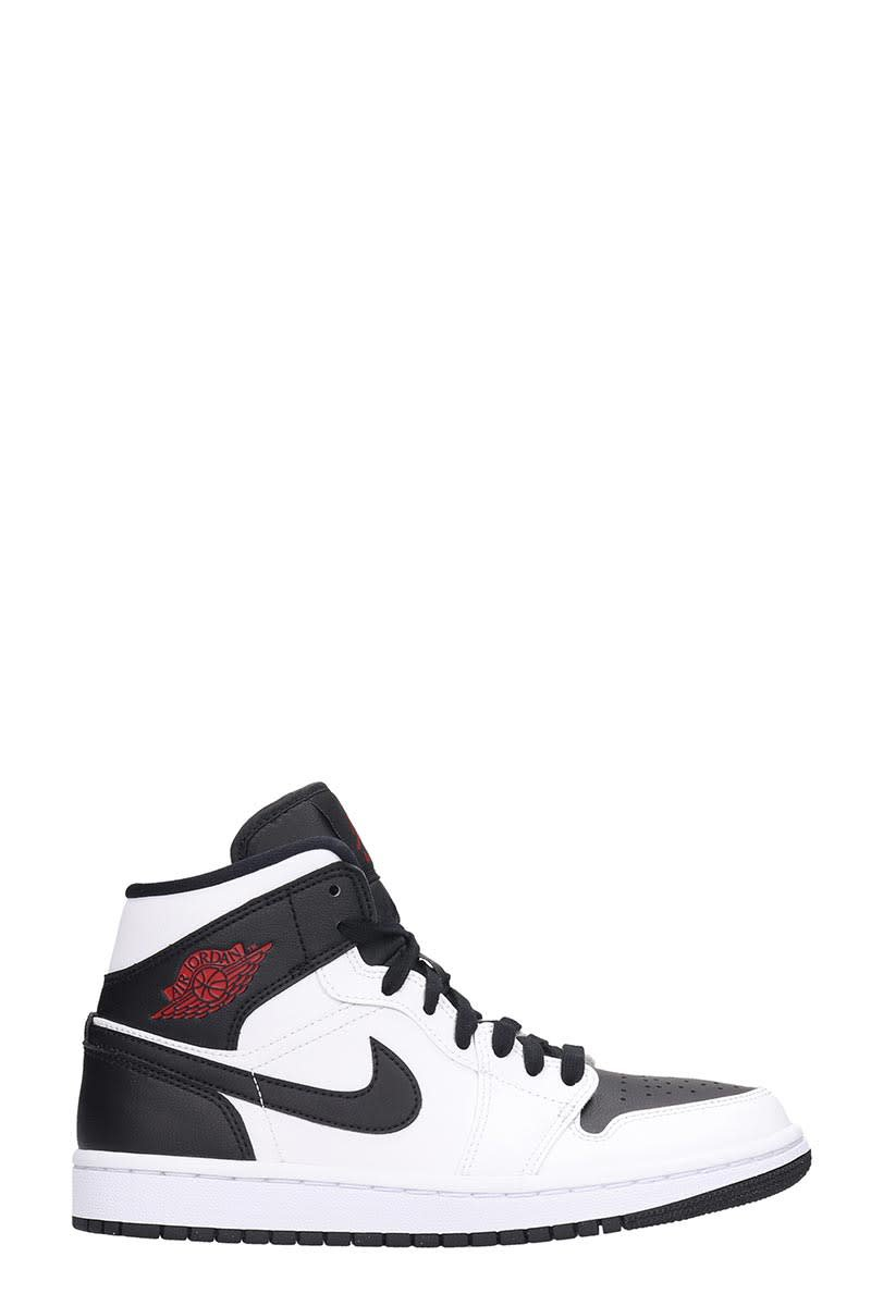 Nike Air Jordan 1 Sneakers In White Leather