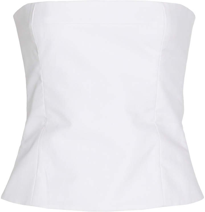 Percy Strapless Bustier Cotton Top