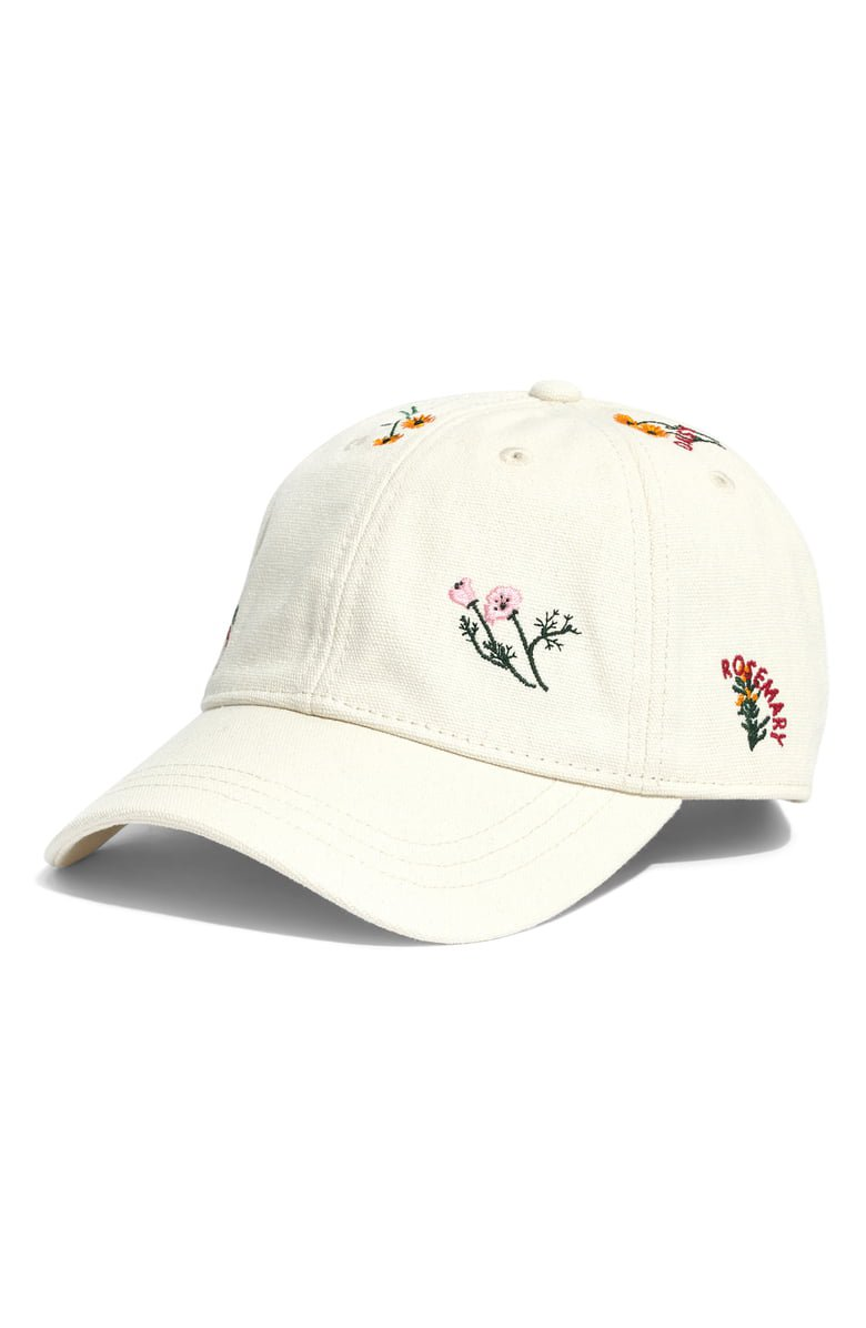 Madewell Botanical Embroidered Baseball Cap | Nordstrom