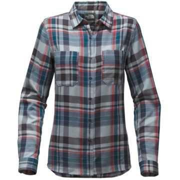 The North Face Castleton Women's Shirt (Dusty Blue Sierra Plaid/XS) | Freeze Pro Shop