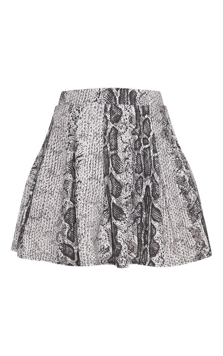 Snake Print Side Split Tennis Skirt | Skirts | PrettyLittleThing