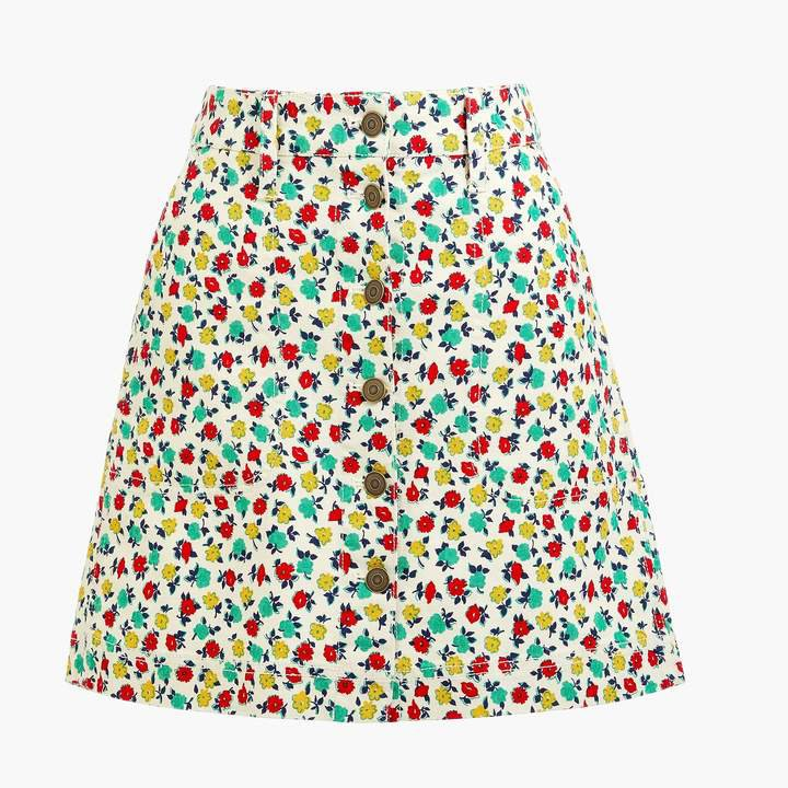 Button-front mini skirt