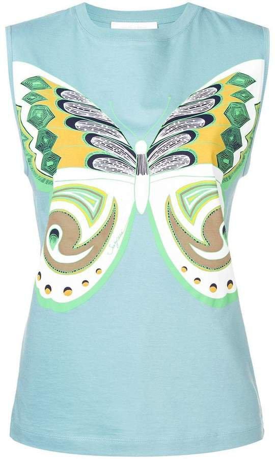 butterfly print tank top