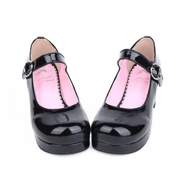 Japanese Fashion Buckle Thick Bottom Lolita High-Heels Shoes SD00190 – SYNDROME - Cute Kawaii Harajuku Street Fashion Store
