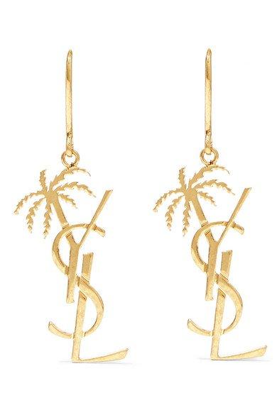 SAINT LAURENT | Gold-tone earrings | NET-A-PORTER.COM