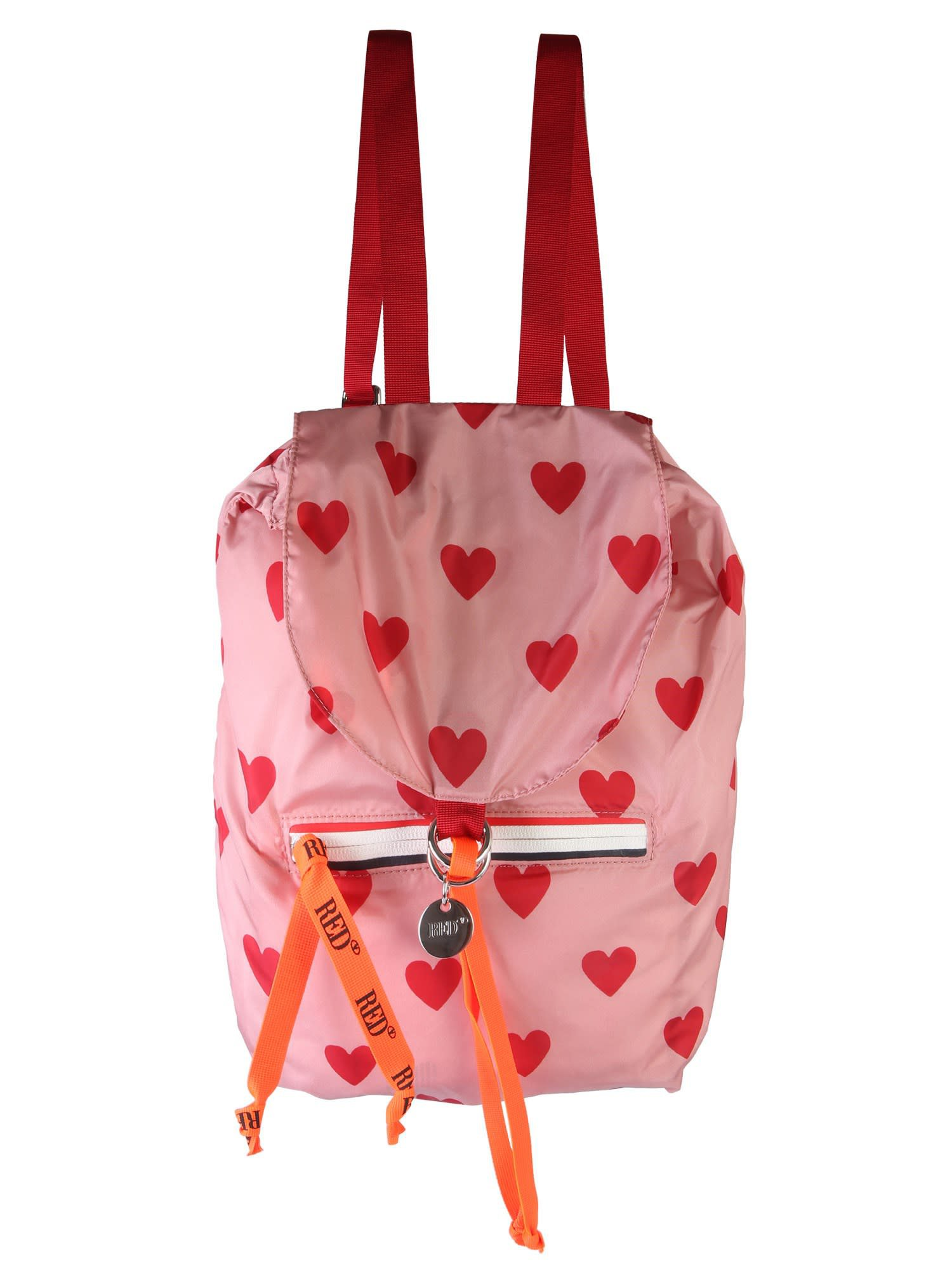 RED Valentino Heart Print Backpack