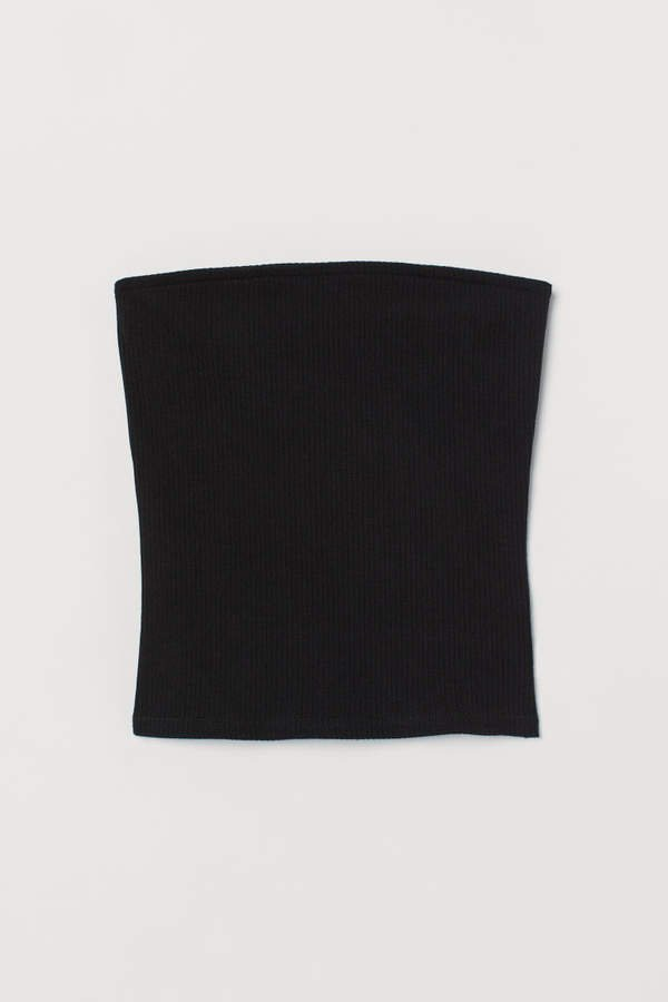 Ribbed Tube Top - Black