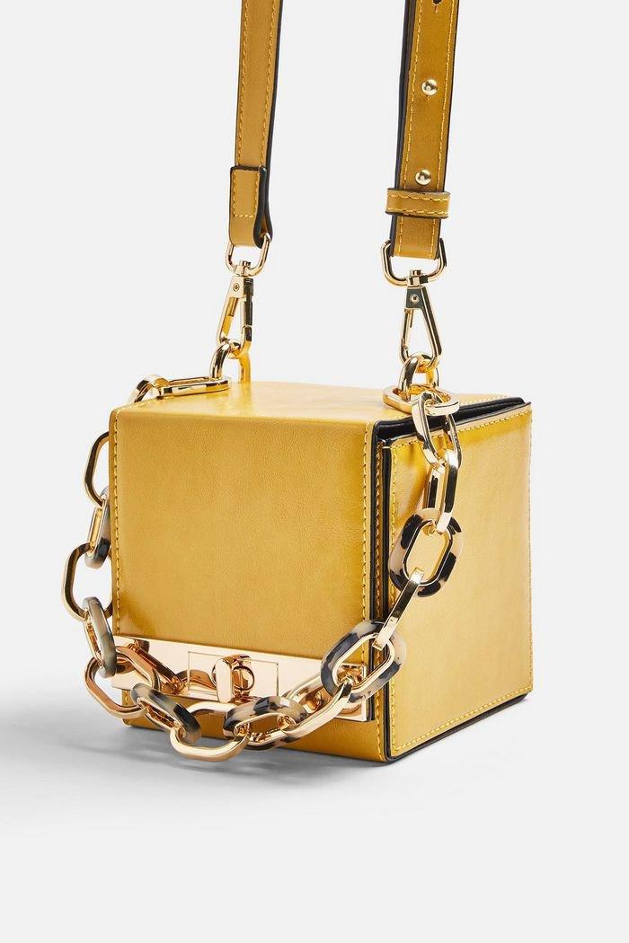 GLINT Yellow Boxy Grab Bag | Topshop