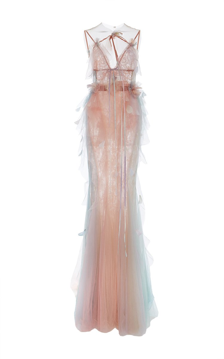 Chanel- Fit and Flare Halter Neck Gown