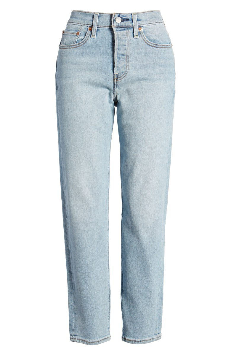 Levi's® Wedgie Icon Fit High Waist Crop Jeans (Bauhaus Blues) | Nordstrom