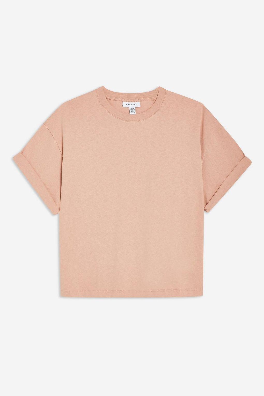 Boxy Roll T-Shirt - T-Shirts - Clothing - Topshop USA